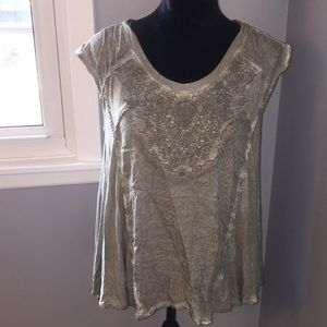 Knox Rose embellished front, army green top.